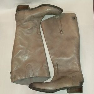 Sam Edelman Gray Leather Riding Boots Size 9.5